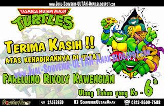 Kartu Ucapan Terima Kasih Thanks Card Ninja Turtle Ultah Sample Tema Design Thanks Card (Kartu Ucapan Terima Kasih)
