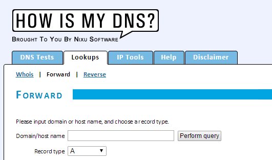 Howismydns