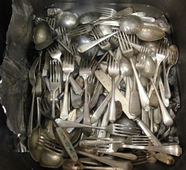 Messy Kitchen Drawer: Cleaning The Silver