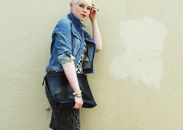 pattern mixing, seattle, street style, in style, fashion, polka dots, leopard print, fleur d'elise, vintage coach