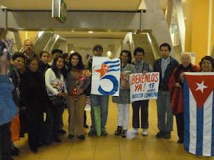 Recibimiento a delegación Cubana, Adriana Perez, Iliana Alfonso, Hamilton