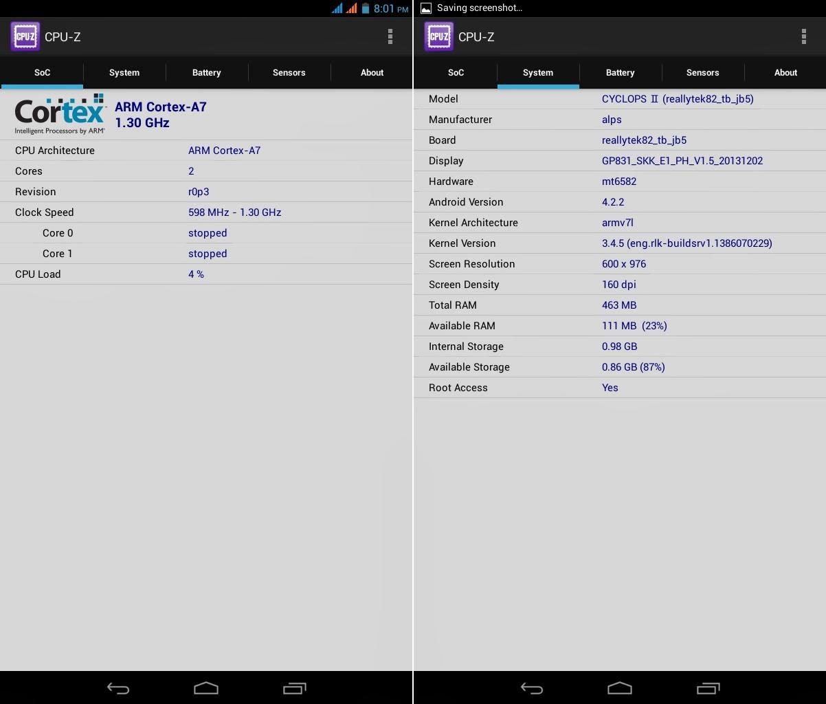 SKK Mobile Cyclops 2 CPU-Z