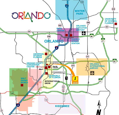 Orlando map of transportation