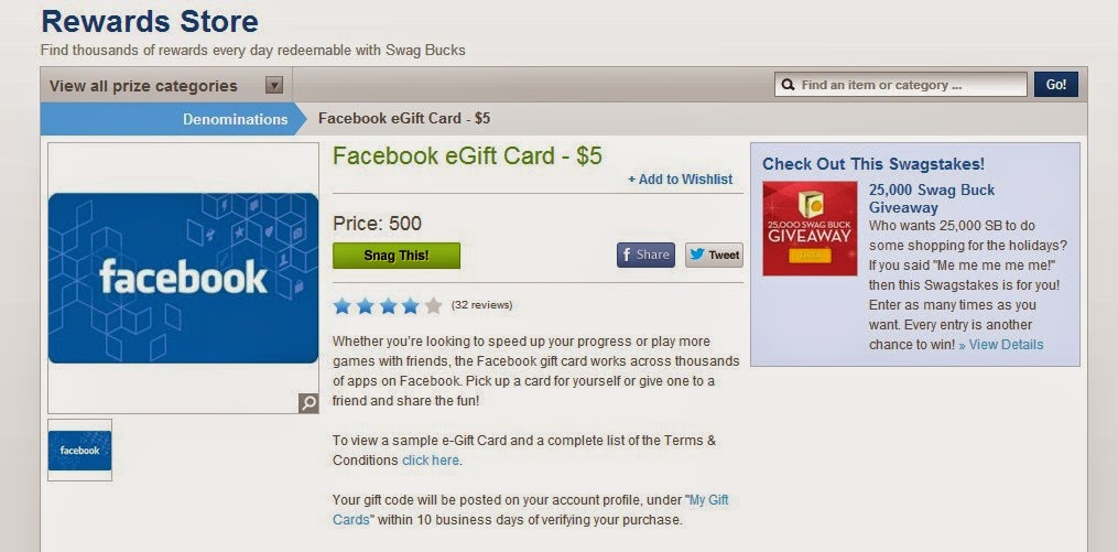 Swagbucks is a popular site where you can get free facebook credits