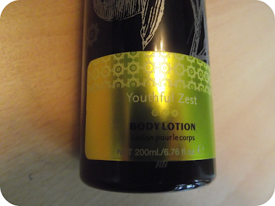 Body lotion label