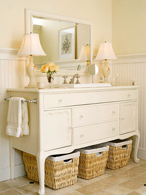 Casa coisas tal grandes id ias para banheiros pequenos for How to make a bathroom vanity out of furniture