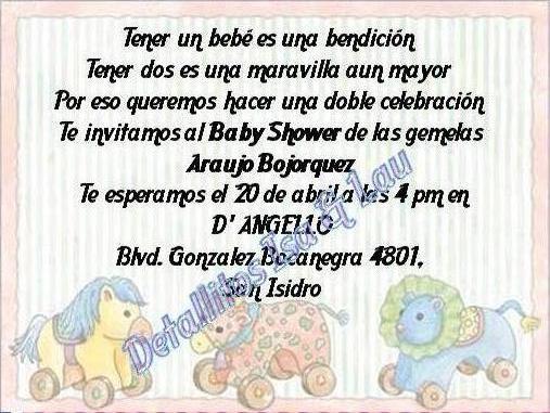 Frases para invitaciónes de BabyShower - Imagui