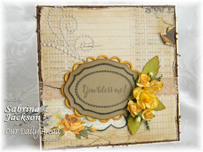 "Our Daily Bread designs ""Sentiments Collection"", ""Elegant Oval Frames"", ""Elegant Oval Dies"" Designer: Sabrina Jackson"