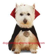 Dog free count dracula cape vampire patterns
