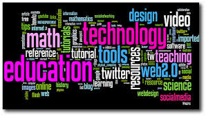 words dealing with subjects,technology in bright pink and neon green