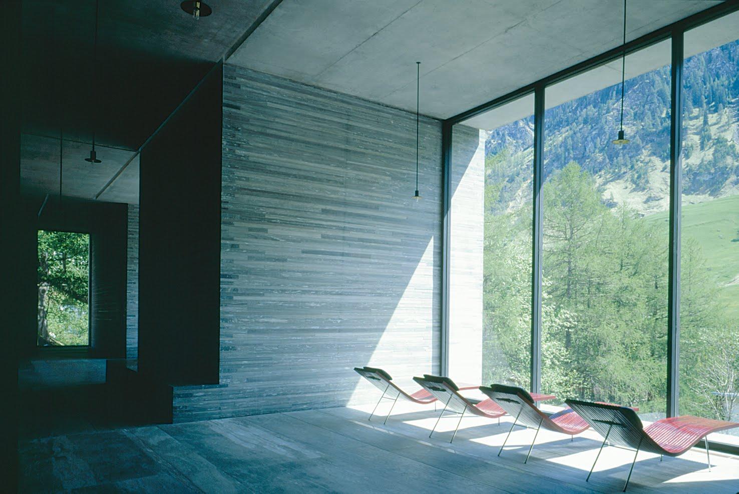 Prancheta de arquiteto proj lazer hotel therme vals for Design hotel vals