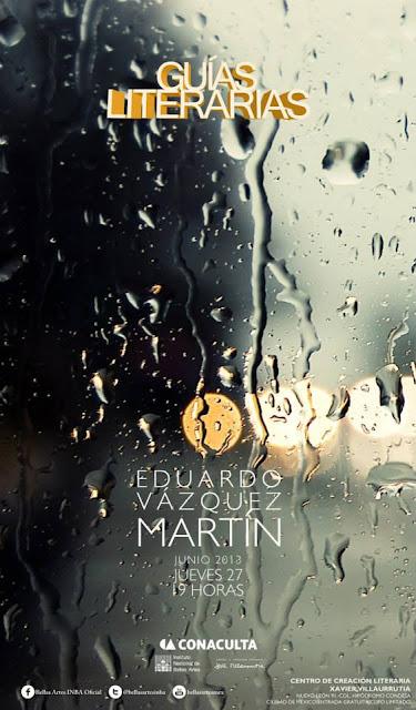 """El ciclo """"Guías Literarias"""" presenta a Eduardo Vázquez Martín en el CCLXV"""