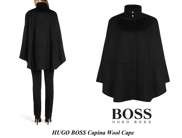 Queen Letizia's HUGO BOSS Capina Wool Cape
