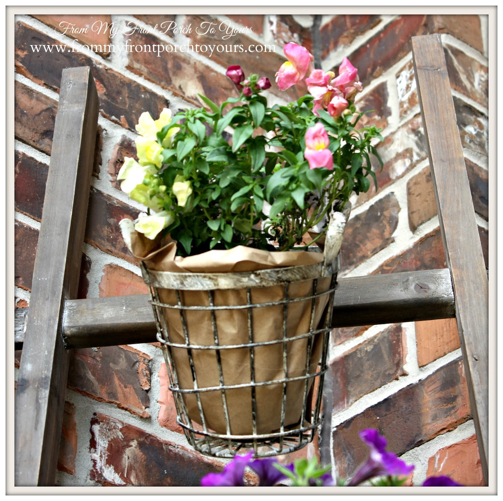 Design Ingenuity Event- Vintage Wire Basket Trio- Decor Steals-From My Front Porch To Yours
