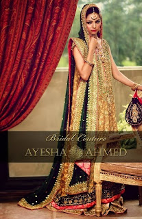 New 2013 Bridal Wear Dresses by Ayesha Ahmed