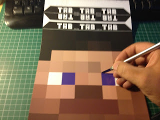 Minecraft Steve head cut out