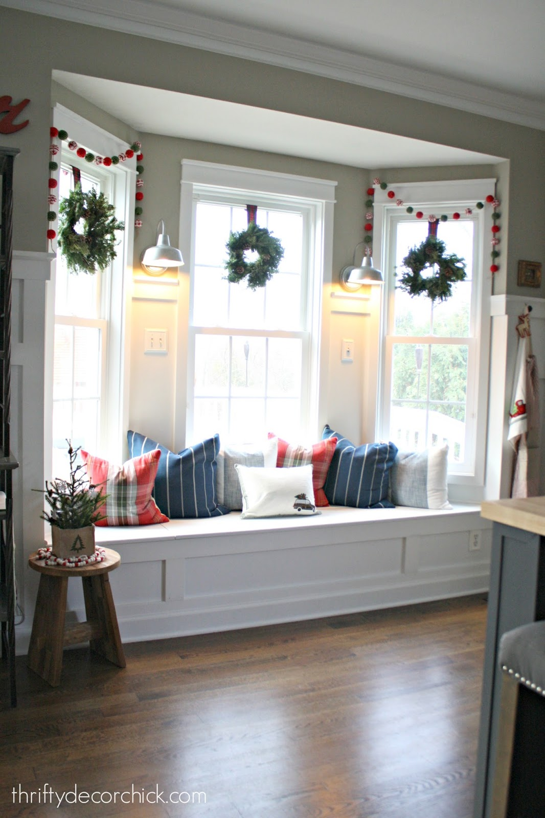 Christmas Kitchen Tour The Christmas Kitchen From Thrifty Decor Chick