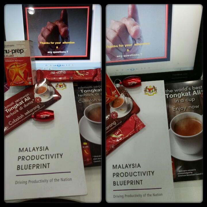 Malaysia Productivity Blueprint 'Extract, Nu-Prep, Nu-Caffe Tongkat Ali'