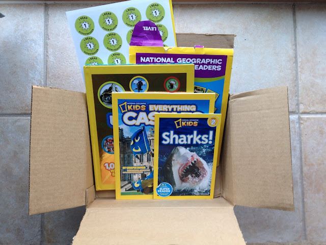 box of national geographic kids with books