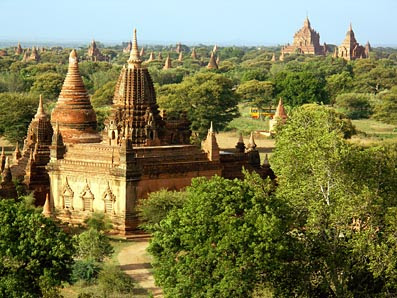 Bagan Monumental Buildings are pagodas and temples