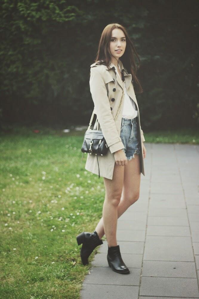OOTD: Trenchcoat + Shorts