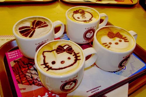 kitty 3D Latte Art