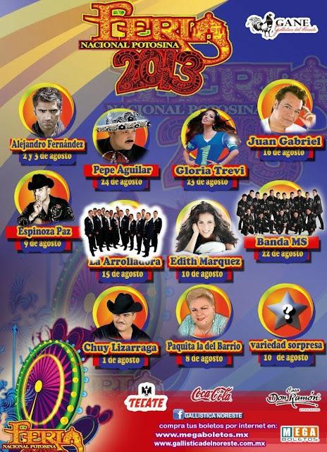 FEria Potosina 2013 programa palenque