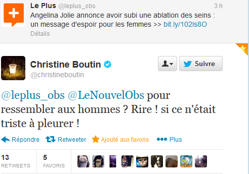 Christine Boutin encore et toujours lamentable
