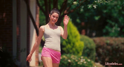 ali cobrin in pink shorts cat walking