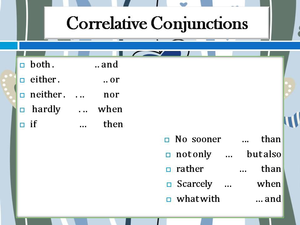 correlative conjunctionexercise