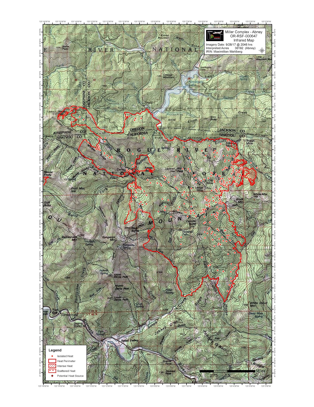 infrared map of abney fire