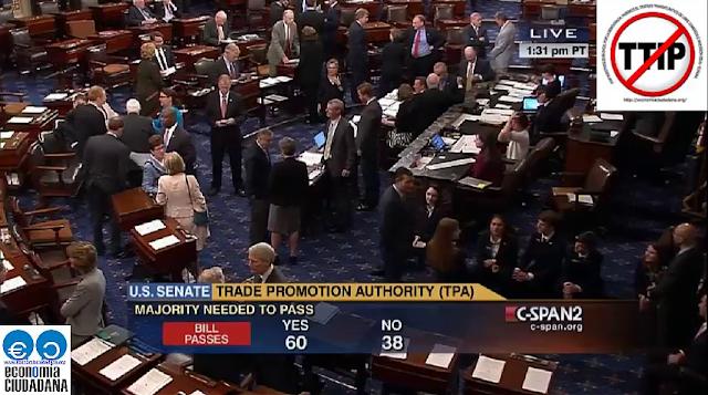 """Aprobacion Senado del TPA """"Trade Promotion Authority"""", más conocida como """"Vía Rápida (Fast Track)"""""""