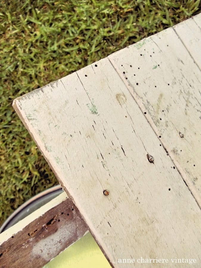 anne charriere vintage, panel recuperado,