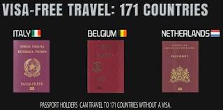 3. Itali, Belgium dan Netherland