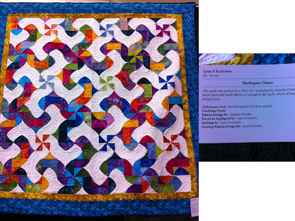 Quilt Show Inspiration, FMQ & Good News!