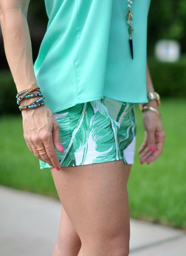 Weekend Steals & Deals | Palm Leaf Shorts & Beaded Wrap Bracelets