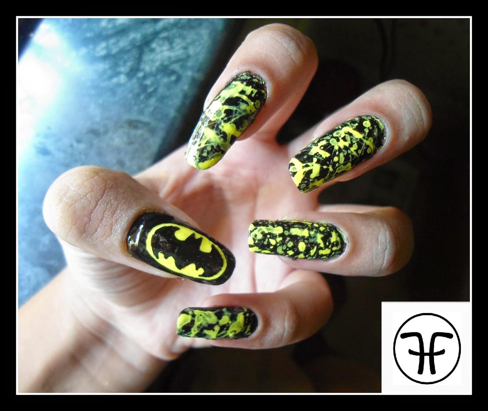 Fashhunny nail art tutorial batman nails nail art tutorial batman nails prinsesfo Image collections