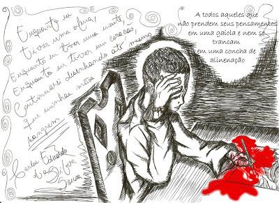 Enquanto houver coração, mente e alma, a mão jamais deixará de desenhar e escrever. Mesmo que ela sangre