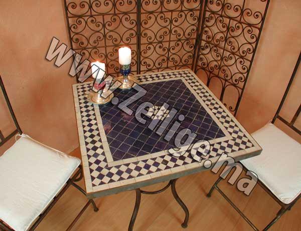 table mosaique zellige marocain carr e pas cher zellige. Black Bedroom Furniture Sets. Home Design Ideas