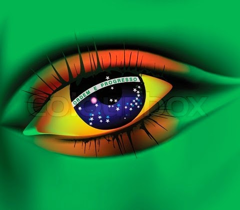 Eye of Brazil concept Brazil world cup 2014
