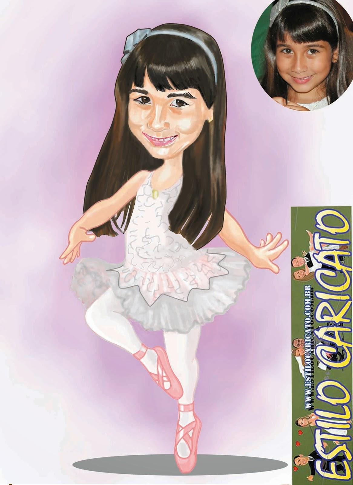caricatura da bailarina