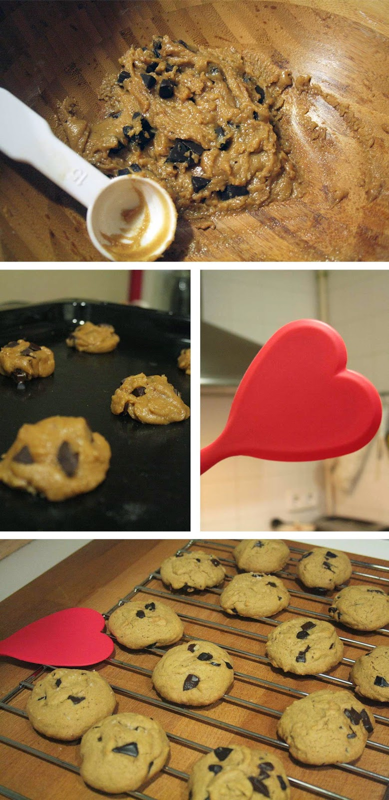 Coconut Oil Dark Chocolate Chip Cookies on the Making