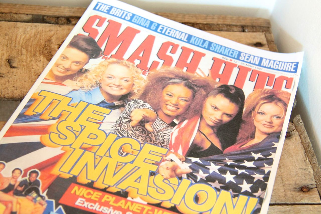 smash hits spice girls 90s prop