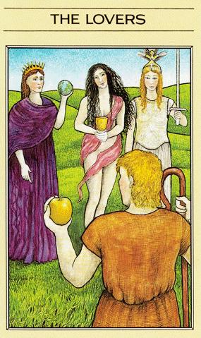 Arcano VI, Os Enamorados - Tarot Mitológico