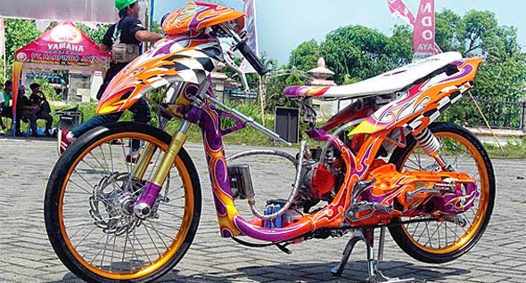 Foto dan Gambar Modifikasi Yamaha Mio Sporty Drag Race