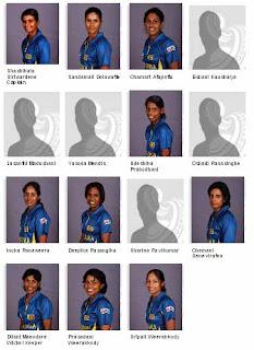 Sri Lanka women's team for ICC women's World Cup 2013