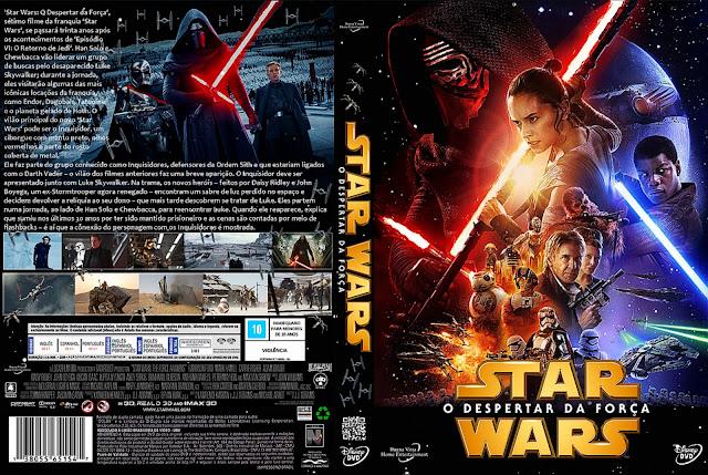 Capa DVD Star Wars VII O Despertar Da Força