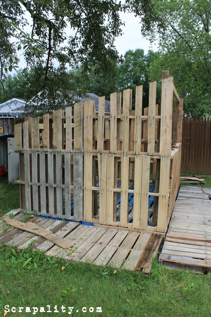Project Pallet Shed Walls And Framing