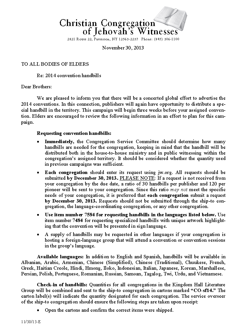Hildebrando y Otras Hierbas: Carta 30/11/13: Invitaciones a las ...