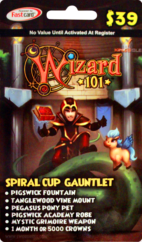 Wizard101 Spiral Cup Gauntlet Bundle Card